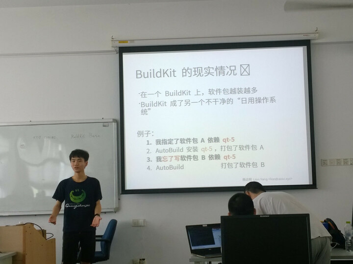 Lion Yang introducing the problems with BuildKit and Ciel, the answer?