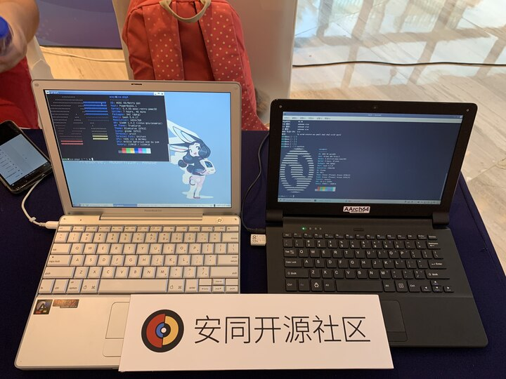 Demo Devices at Our Stall (credit: Ruikai Liu).